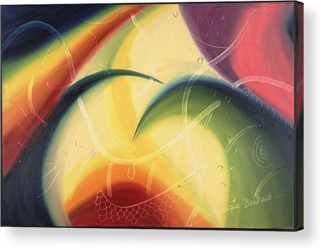 Abstract Acrylic Print featuring the painting Diffusion Du Centre by Dominique Boutaud