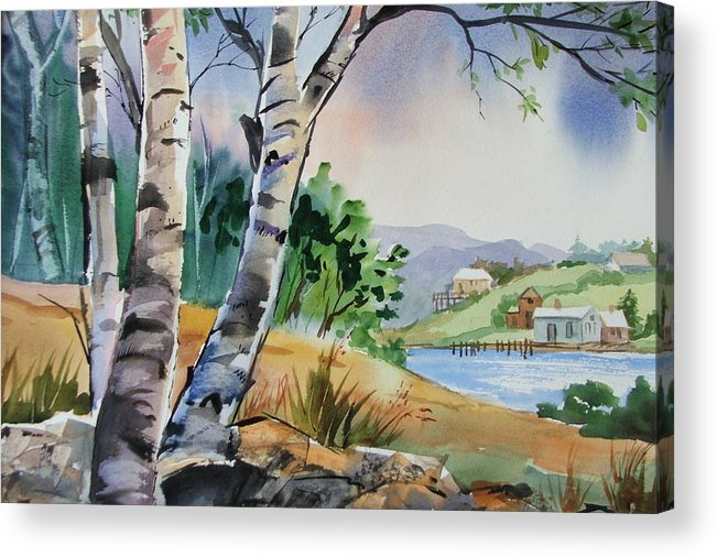 Birch Trees Acrylic Print featuring the painting Distant View by Dianna Willman