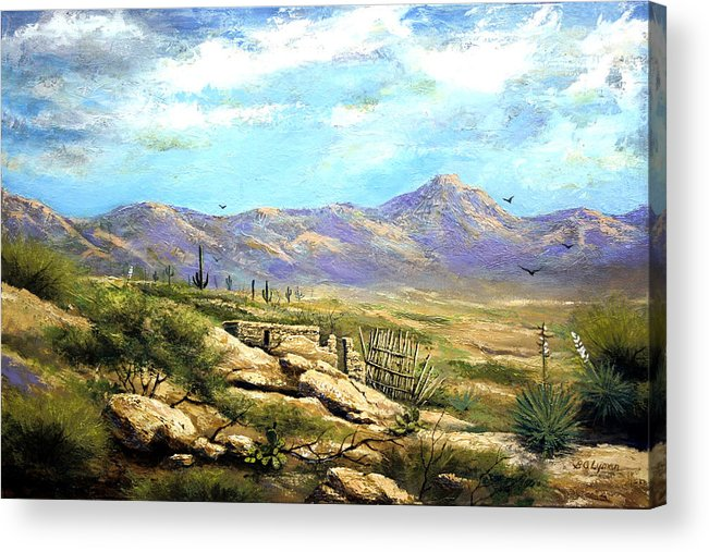 Landscape Acrylic Print featuring the painting Down Sedona Way by Brooke Lyman