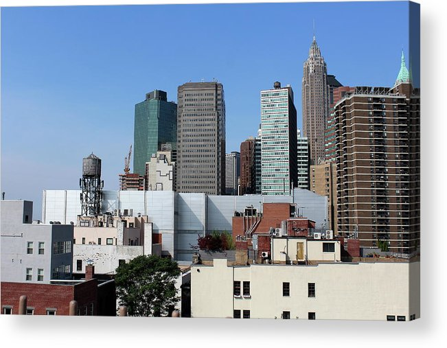 Downtown Acrylic Print featuring the photograph Downtown by Nadia Asfar