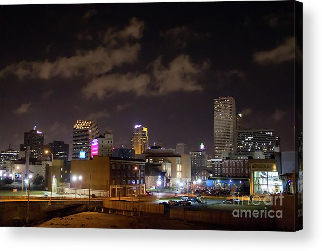 New Orleans Acrylic Print featuring the photograph Downtown New Orleans by James Foshee