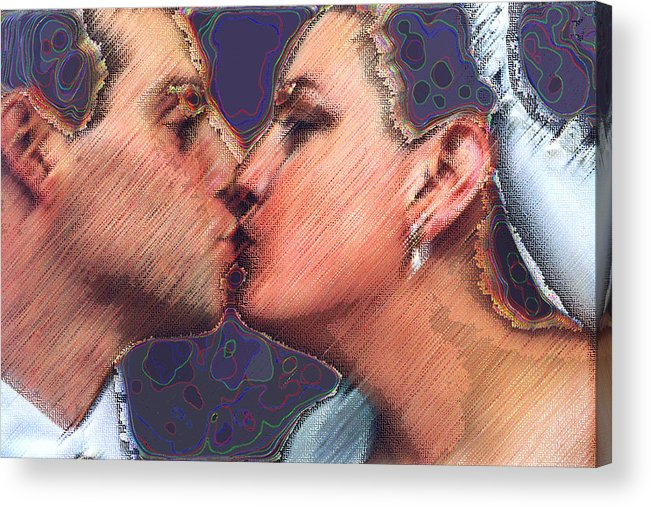 Wedding Acrylic Print featuring the digital art Dream Wedding by JoAnne Castelli-Castor