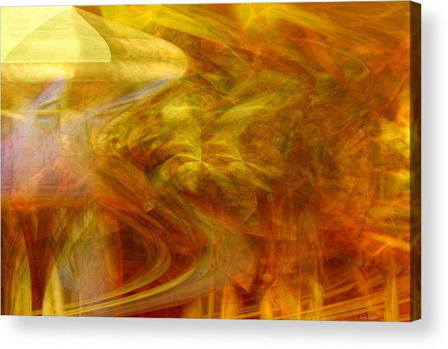 Abstract Art Acrylic Print featuring the digital art Dreamstate by Linda Sannuti