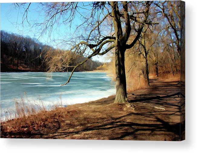 Parks Acrylic Print featuring the painting Early Spring In The Park by Elaine Manley