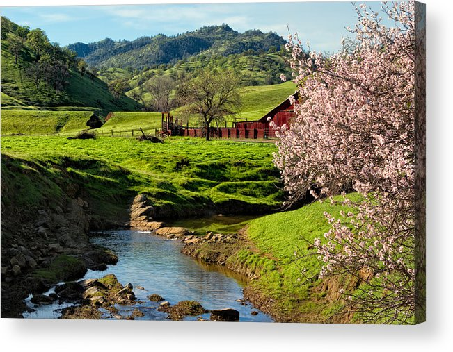 Farm Acrylic Print featuring the photograph Early Spring In The Valley by Kathleen Bishop