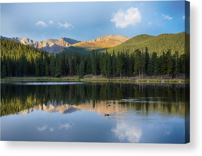 Mount Evans Acrylic Print featuring the mixed media Echo Lake 6 by Angelina Vick