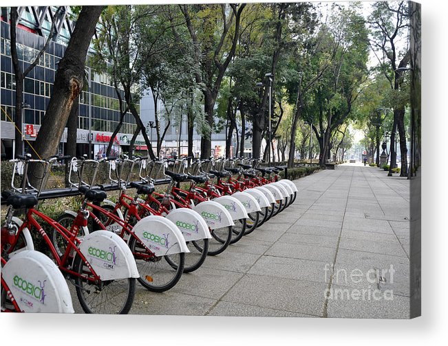 Ecobici Acrylic Print featuring the photograph Ecobici by Andrew Dinh
