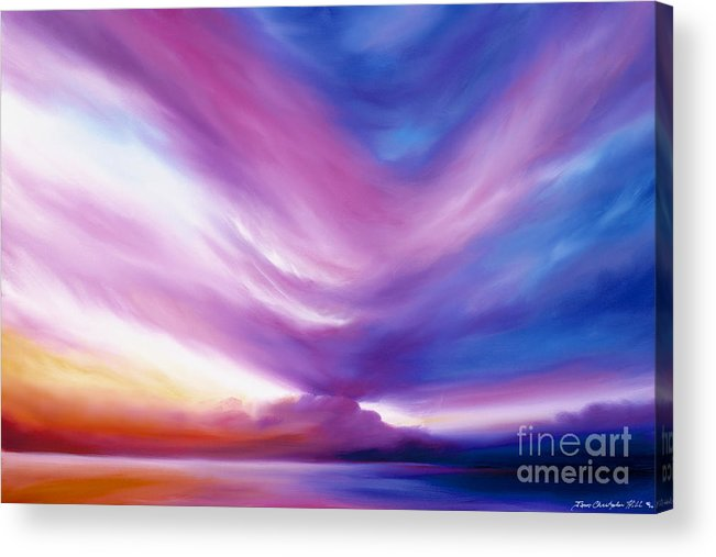 Clouds Acrylic Print featuring the painting Ecstacy by James Christopher Hill