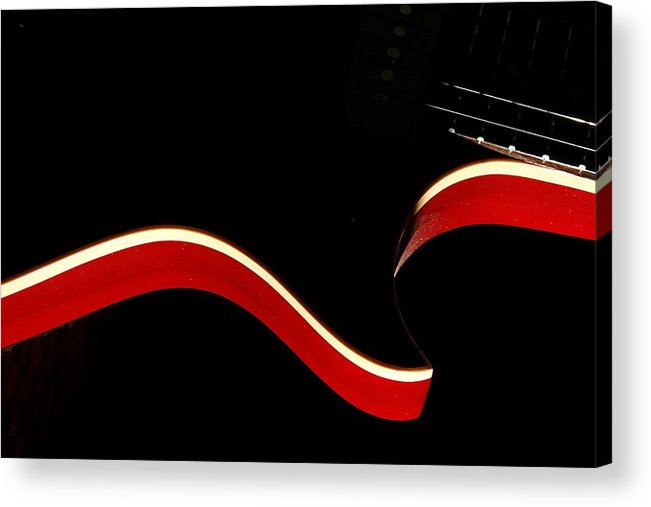 Guitar Acrylic Print featuring the photograph Ed's Red 1 by Art Ferrier