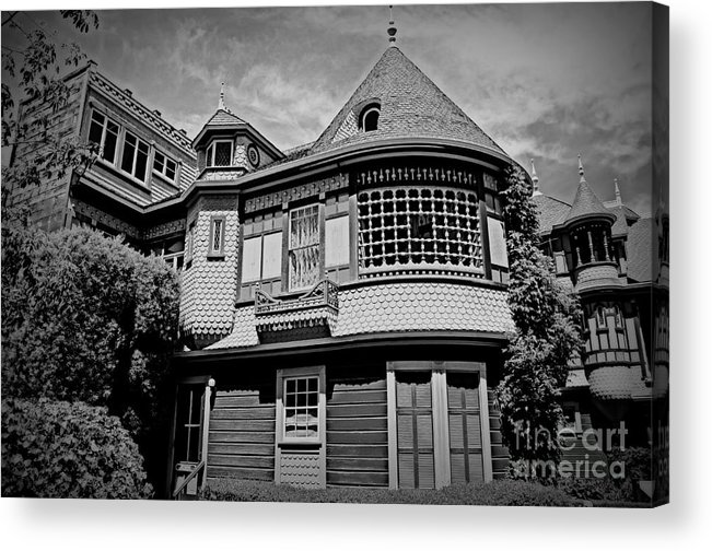 Winchester House Acrylic Print featuring the photograph Eerie Winchester House by Tru Waters