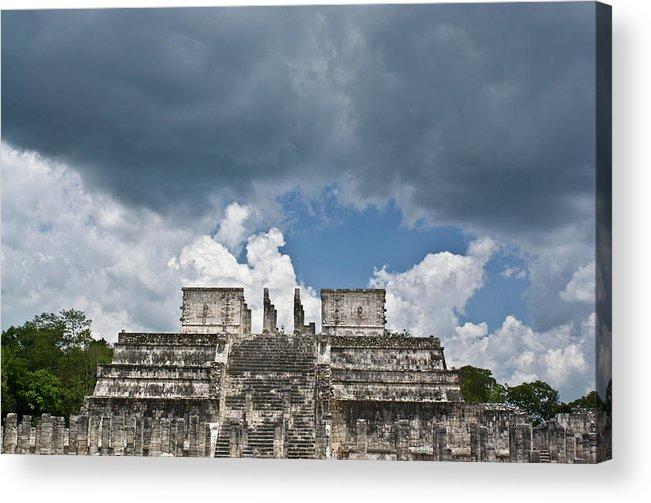 El Templo De Las Columnas Acrylic Print featuring the photograph El Templo De Las Columnas 1 by Douglas Barnett