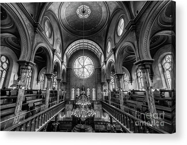 Symmetry Acrylic Print featuring the photograph Eldridge Street Synagogue by Edi Chen