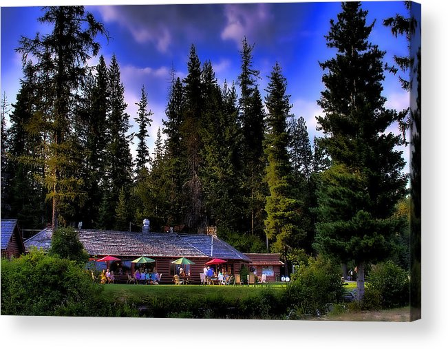 Reeder Creek Acrylic Print featuring the photograph Elkins Resort II by David Patterson