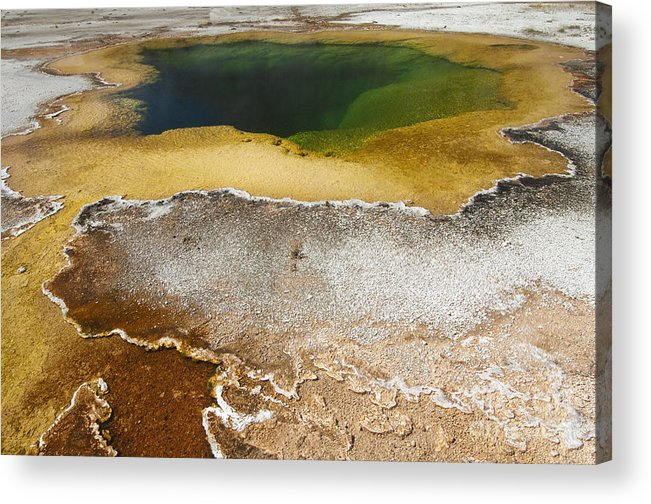 Yellowstone Acrylic Print featuring the photograph Emerald Pool - Yellowstone National Park by Sandra Bronstein
