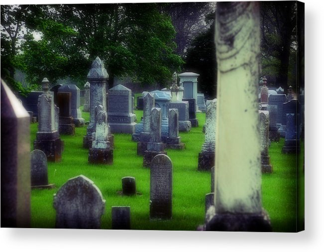 Cemetery Acrylic Print featuring the photograph Ethereality by Carl Perry