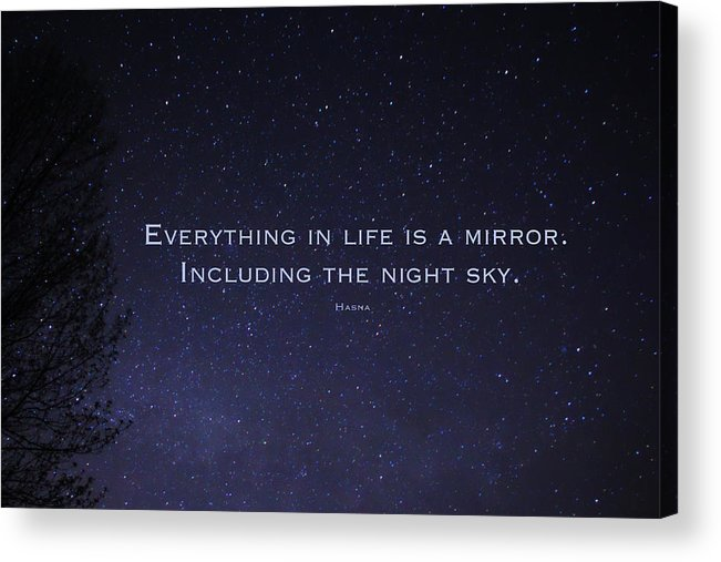 Night Sky Acrylic Print featuring the photograph You Are My Star by Hasna