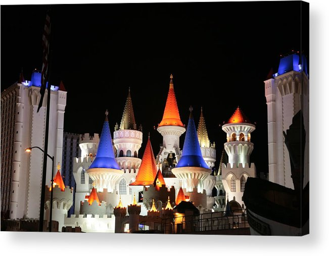 Vegas Acrylic Print featuring the photograph Excalibur by Rich Tanguay