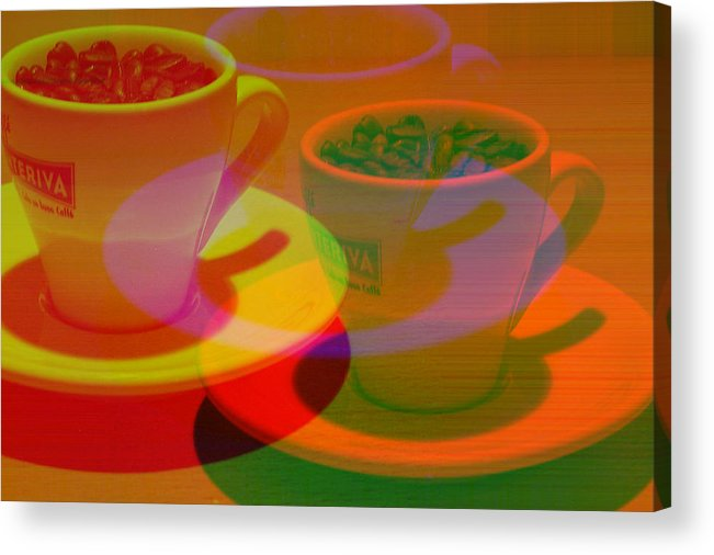 Cafe Acrylic Print featuring the photograph Expresso.piccolo.offset by Robert Litewka