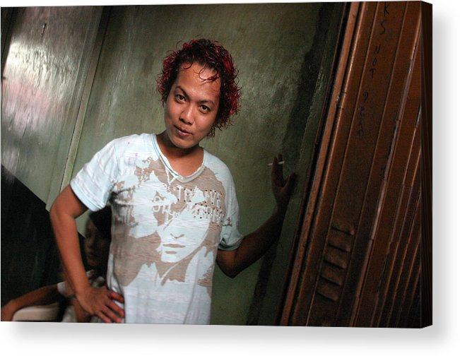 Photographer Acrylic Print featuring the photograph Faking Coyness 2 by Jez C Self