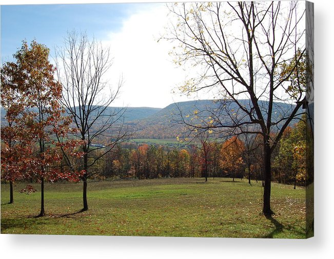 Colors Acrylic Print featuring the photograph Fall Colors In Corner Of A Field by Richard Botts