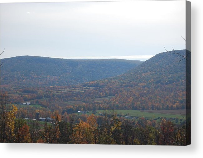 Mountain Acrylic Print featuring the photograph Fall Colors In Nippenose Valley by Richard Botts
