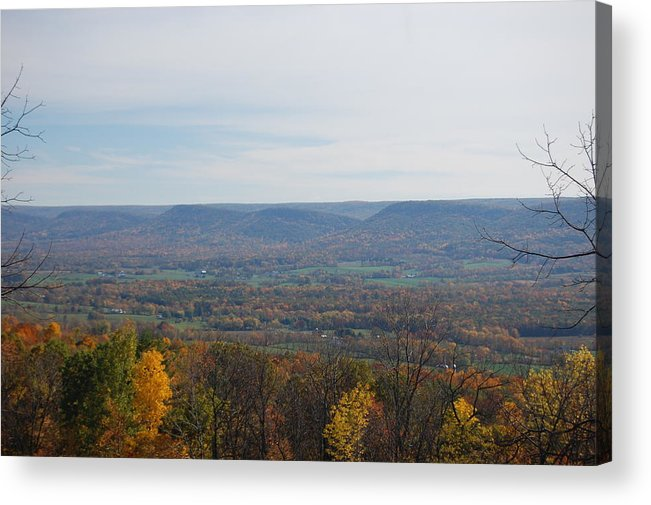 Fall Acrylic Print featuring the photograph Fall Colors In The Valley by Richard Botts
