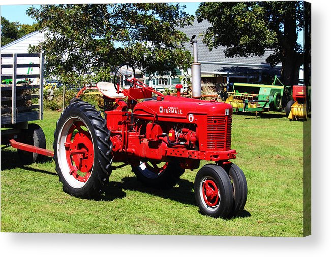 Farmall Acrylic Print featuring the photograph Farmall At The Country Fair by Andrew Pacheco