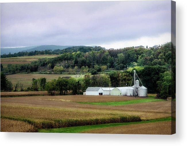 Pa Acrylic Print featuring the photograph Farmland In Pennsylvania by Eleanor Bortnick