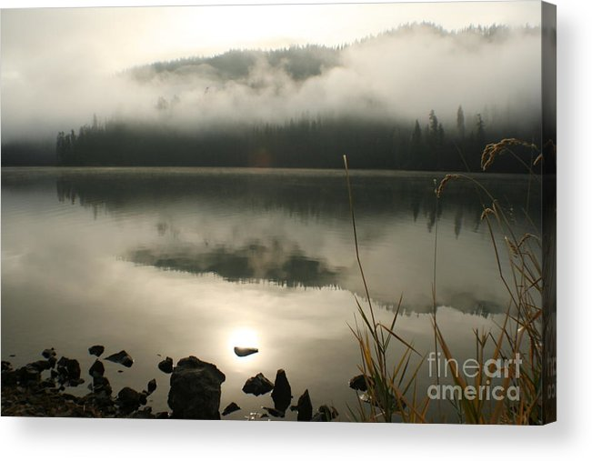 Mist Acrylic Print featuring the photograph Fernan Fog by Idaho Scenic Images Linda Lantzy