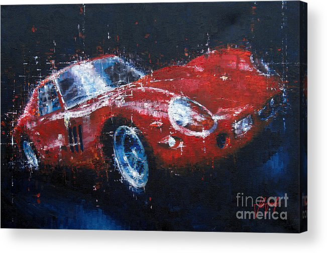 Ferrari Acrylic Print featuring the painting Ferrari Gto by John D Lawson