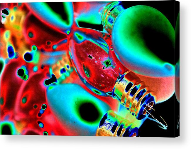 Christmas Acrylic Print featuring the photograph Festive Lights Of Christmas by Tiffany Vest