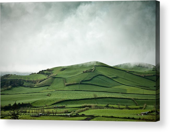 Field Acrylic Print featuring the photograph Fields Of The Hill by Nelson Mineiro