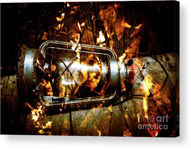 Lantern Acrylic Print featuring the photograph Fire In The Hen House by Jorgo Photography - Wall Art Gallery