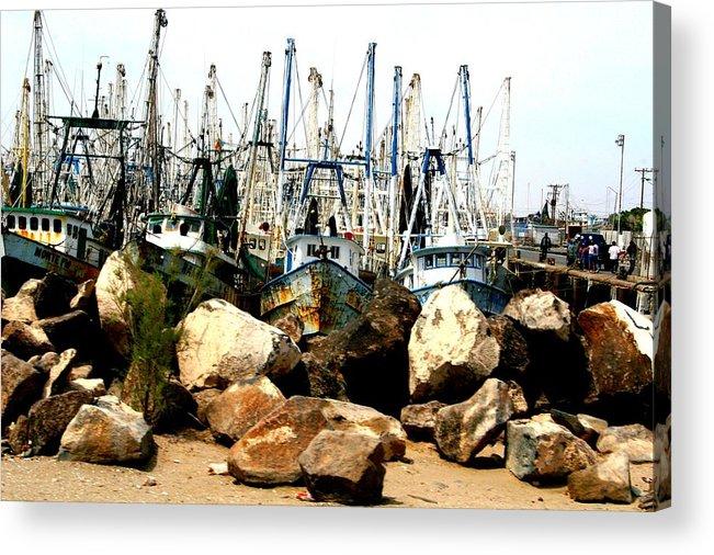 Fishing Acrylic Print featuring the photograph Fishing Boats by Bob Gardner