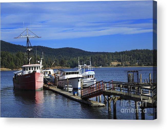Fishing Acrylic Print featuring the photograph Fishing Boats In Sooke by Louise Heusinkveld