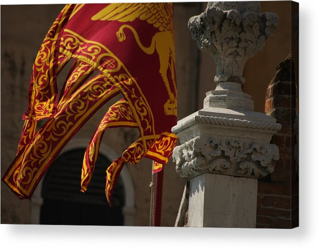 Venice Acrylic Print featuring the photograph Flag Of Venice by Michael Henderson