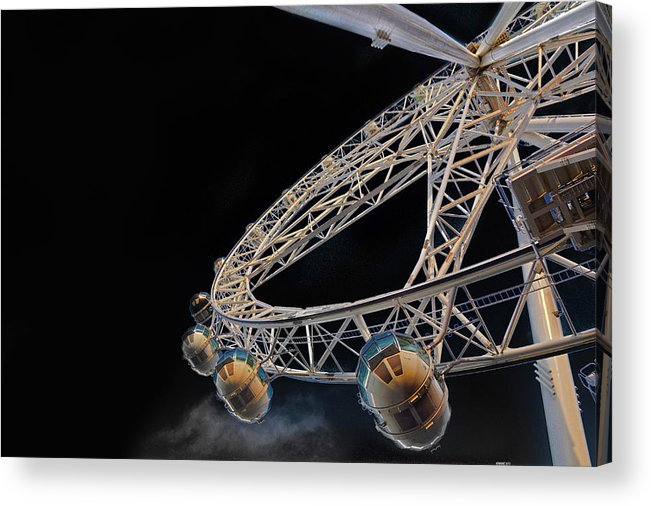 Wheel Acrylic Print featuring the photograph Flight Path by Peter Krause