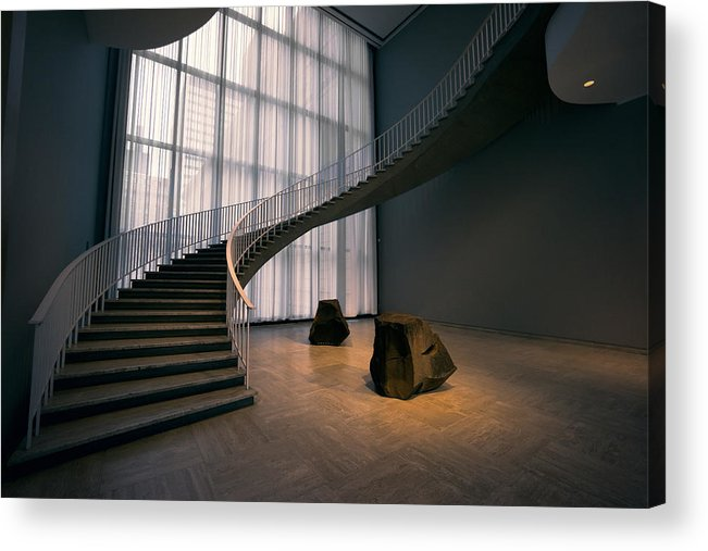 Chicago Acrylic Print Featuring The Photograph Floating Spiral Staircase Of  Chicago Art Institute By Daniel Hagerman