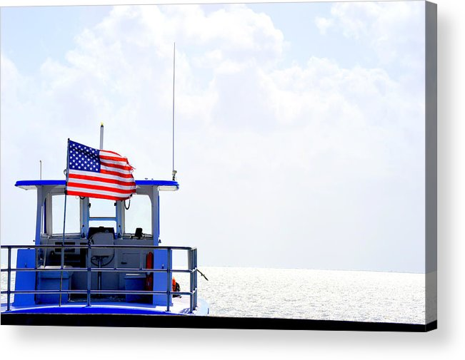 Florida Acrylic Print featuring the photograph Florida Keys Patriot by Amy Nichter