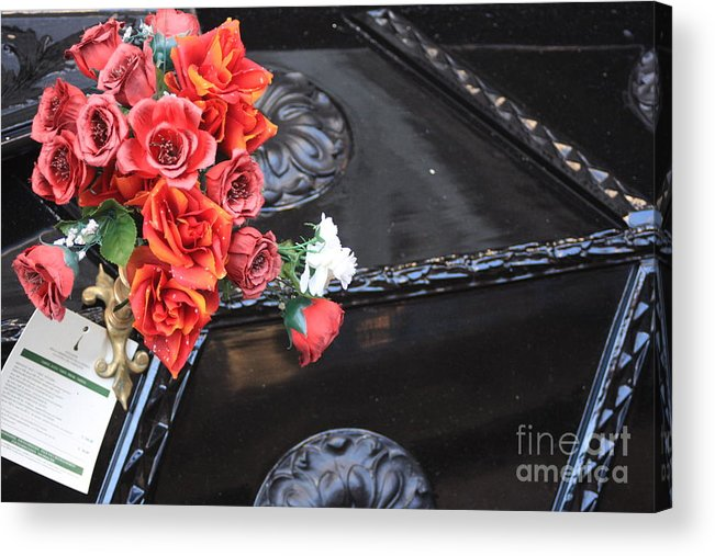 Italy Acrylic Print featuring the photograph Flowers On Gondola In Venice by Michael Henderson
