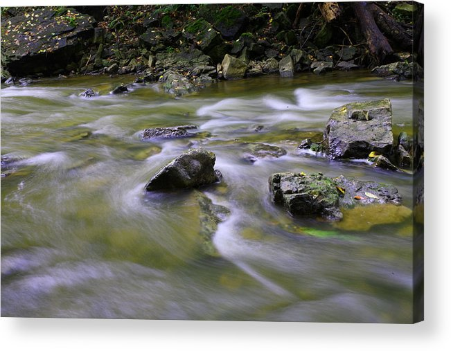 Water Acrylic Print featuring the photograph Flowing Water 2 by Mark Platt