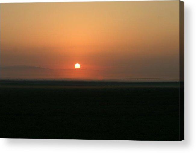 Sun Rise Acrylic Print featuring the photograph Foggy Sun Rise by Kevin Dunham