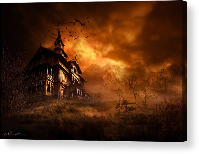 Abandoned Acrylic Print featuring the digital art Forbidden Mansion by Svetlana Sewell