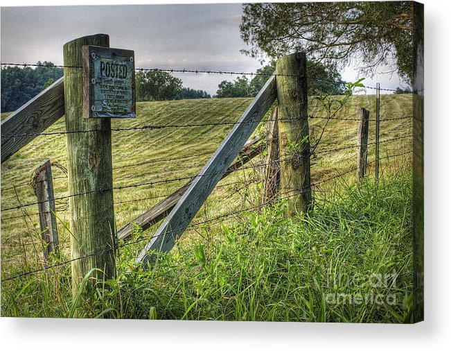 Nature Acrylic Print featuring the photograph Forbidden View by Pete Hellmann