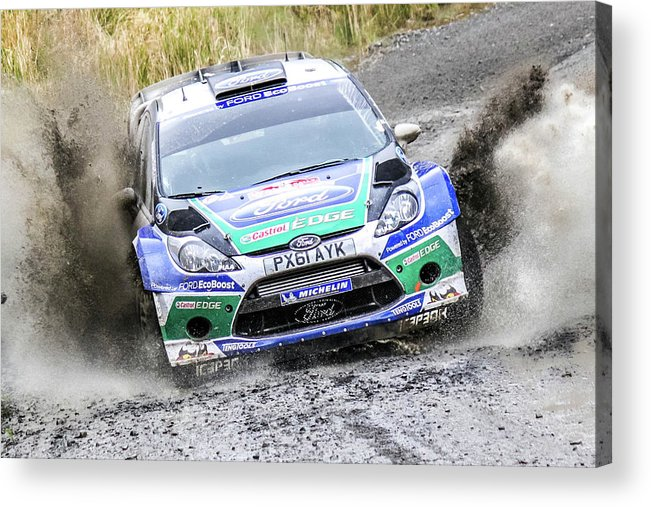 Ford Focus Wrc Rally Gb Acrylic Print