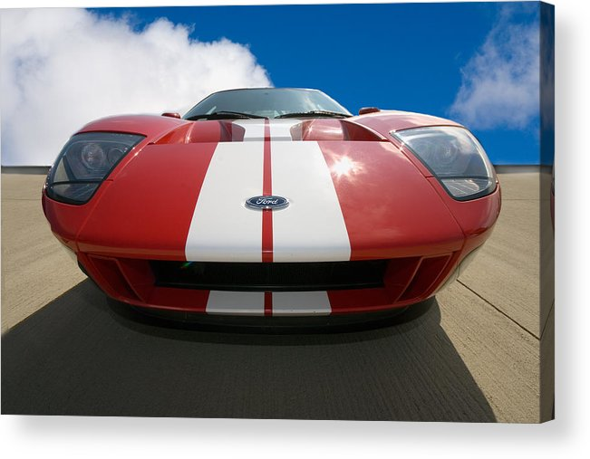 Automotive Acrylic Print featuring the photograph Ford Gt by Peter Tellone