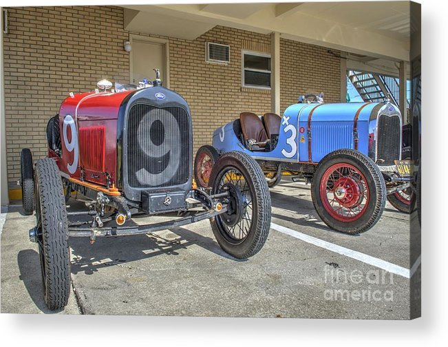 Race Of Gentleman Acrylic Print featuring the photograph Fords 9 And 3 by Jason Barr