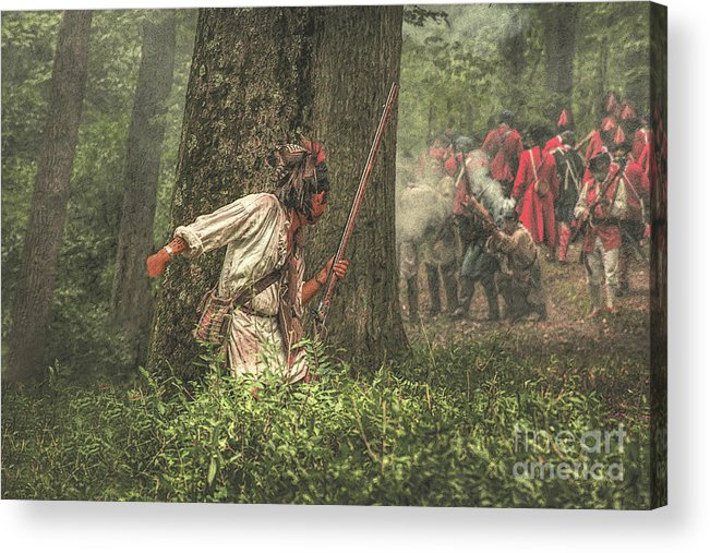 War Acrylic Print featuring the digital art Forest Fight by Randy Steele