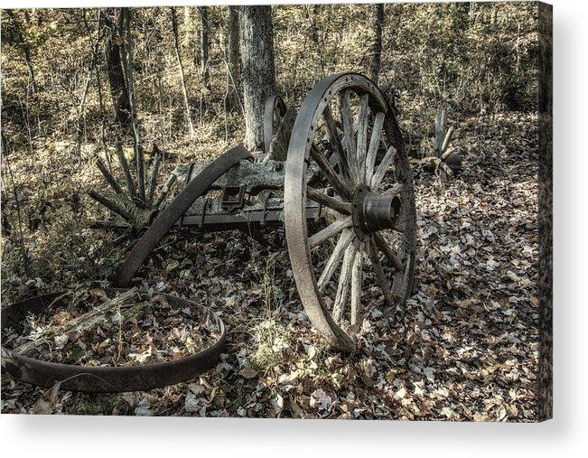 Wheel Acrylic Print featuring the photograph Forgotten Wagon by Tom Mc Nemar