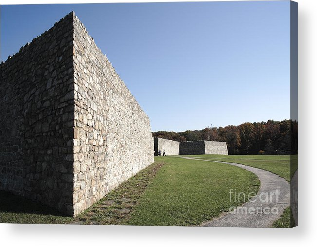 Colonial Acrylic Print featuring the photograph Fort Frederick In Maryland by William Kuta